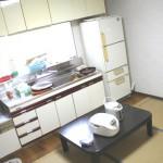 白いコテージ01 キッチン