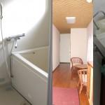 白いコテージ01 バストイレ廊下